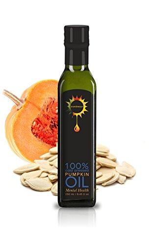 Sun Pumpkin Seed Oil - Pumpkin seed Oil Unrefined Raw Cold Pressed 100% Natural Non GMO 8.45 fl oz/250 ml