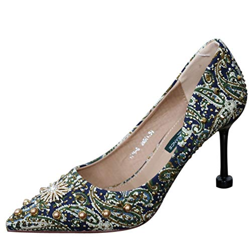 Boucle En Pointues Filles Le Femmes De La 37 35 Polyvalence Zzdsh Des Mot Les Talons Sens Métal Chaussures wH7RWqPBx