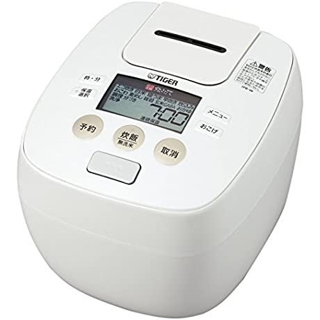 TIGER IH Pressure Rice Cooker Cooked 5 5 Go Cook JPB W100 W White