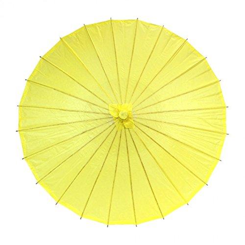 Best Original Halloween Costume Ideas 2016 (Koyal Wholesale 32-Inch Paper Parasol, Umbrella for Wedding, Bridesmaids, Party Favors, Summer Sun Shade (1, Yellow))