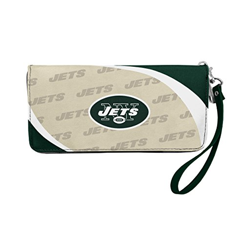 Nfl Gear Women - Littlearth NFL New York Jets Curve Zip Organizer Wallet