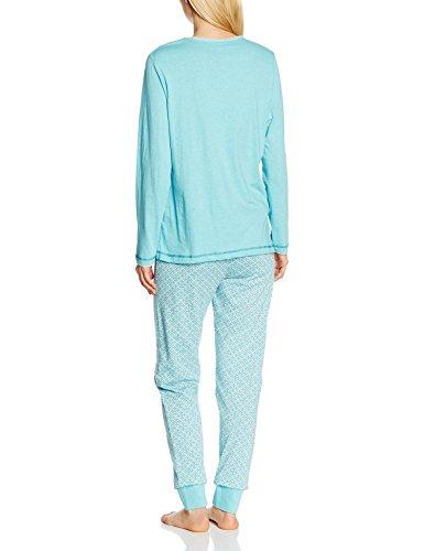 Hajo Damen Schlafanzug, Pijama para Mujer Grün (hellpetrol 674)