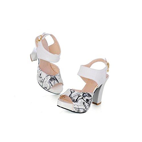 Cuadrado Outlet Sandalias Tacón Mujer Pu Verano Zapatos Primavera bfgvY67y