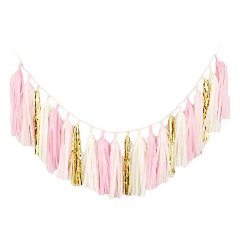 Blush Bazaar Gold Tassel Garland, (Garland Blush)