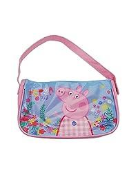 Peppa Pig Holiday Flowery Handbag Pink Girls Kids Shoulder Bag