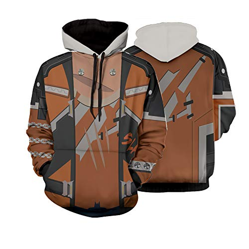 Overwatch Pullover Sweatshirts Game Role Play Hoodies (XL) Brown (Overwatch Game Of The Year Edition Upgrade)