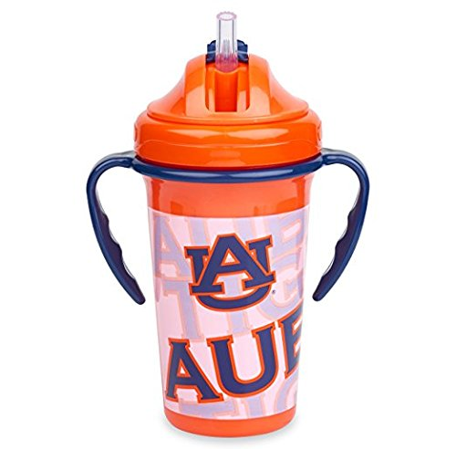 Straw Top Sippy Cup | Official NCAA University of Auburn Licensed Product | 10 oz