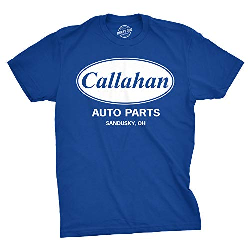 - Mens Callahan Auto T Shirt Funny Shirts Cool Humor Movie Quote Sarcasm Tee (Blue) - 3XL