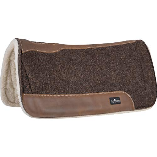 Classic Equine Blended Saddle Pad, Felt/Fleece 3/4″ Thick, 30″ X 30″