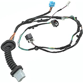 Image of APDTY 756617 Power Door Lock Wire Wiring Pigtail Connector Harness Replacement For Rear Left or Rear Right Door On 2004-2005 Dodge Ram 1500 2500 3500 Crew Quad Cab Pickup (Replaces 56051931AB) Wiring Harnesses