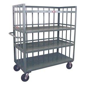 Stock Cart, 3 Slat Sides, 4 Shelves, 30x72 (Two Slat Shelves)