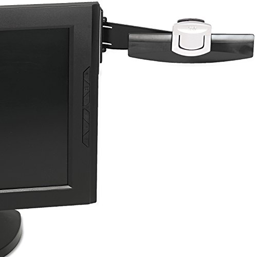 3M Monitor Mount Document Clip, Mounts Right or Left with Command Adhesive, Swings Forward and Back for Easy Viewing and Storage, 30 Sheet Capacity, Black - Holder Document Lcd