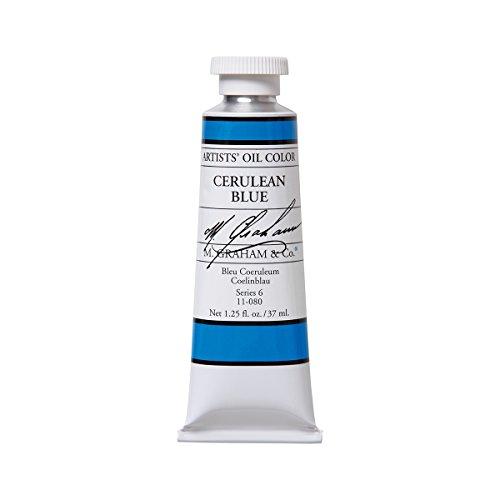M. Graham Artist Oil Paint Cerulean Blue 1.25oz/37ml (Graham Walnut Oil)