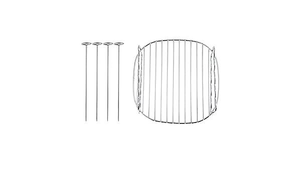 Freidora de aire Rack de doble capa, Accesorio de cocina Reemplazo Rack de doble capa Brochetas Bandeja para hornear para Philips Air Fryer: Amazon.es: ...