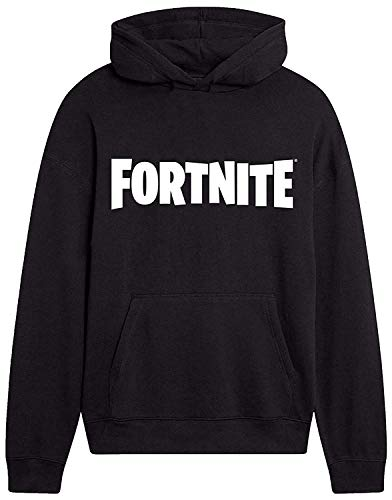 Fortnite Official Hoodie Black or Grey Sweatshirts for Boys Fortnight Geek Gifts (Black, 11_years)