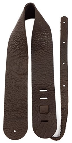 (Your Forte Leather Guitar Strap - Fits Acoustic, Electric, and Bass Guitars, Adjustable to Any Player - Cool Classic Vintage Look, American-made, Thin, Soft, Light, Comfortable, Durable, Bison Leather)