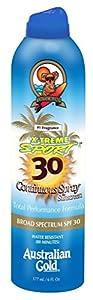 Australian Gold SPF 30 X-Treme Sport Continuous Spray, 6 Fluid Ounce