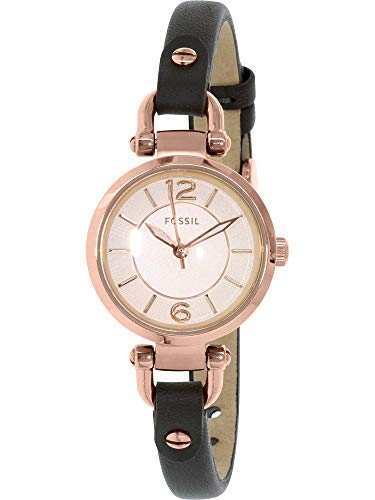 Fossil Women's ES3862 Georgia Three-Hand Leather Watch With Gray Band
