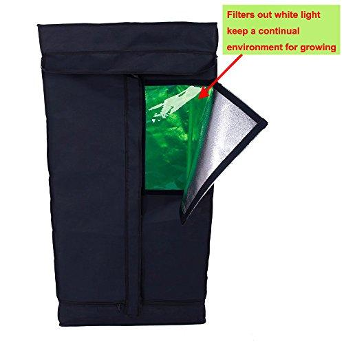 TopoLite 24″x24″x48″ 32″x32″X63″ 36″x20″x63″ 36″x36″x72″ 48″x24″x60″ 48″x24″x72″ 48″x48″x80″ 60″x60″x80″ Grow Tent Dark Room for Hydroponic Indoor Planting (24″x24″x48″ T-Door / window)