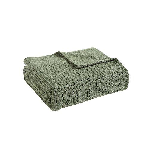 Fiesta Cotton Thermal Blanket, Sage Green, King