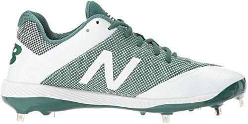 New Balance Herren L4040v4 Metall Baseball-Schuh Grün Weiß