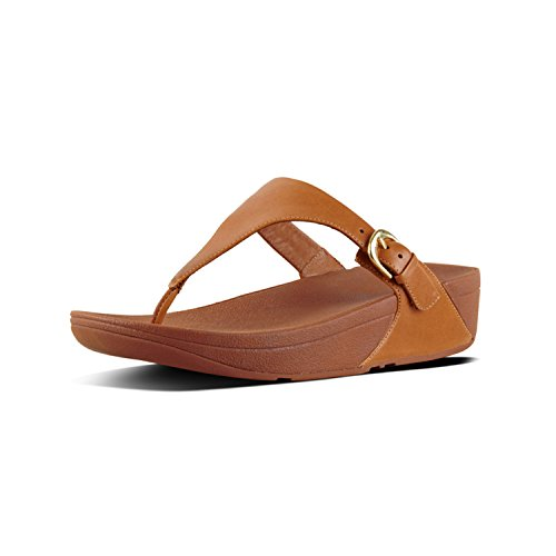 098 Marrone Caramel Leather Sandals Punta Sandali Fitflop Thong Toe Donna Aperta Skinny fq4wngPnB