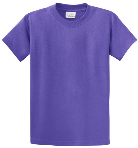 (Joe's USA(tm - Heavyweight 6.1-Ounce, 100% Cotton T-Shirts in Size L Violet)