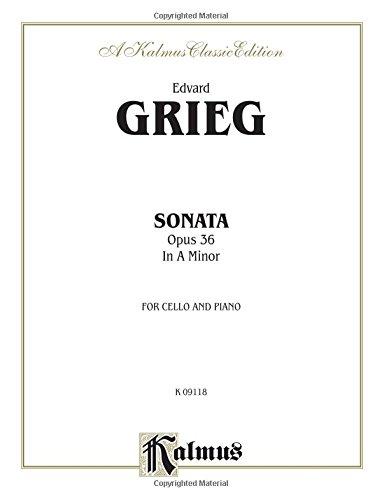 Cello Sonata in A Minor, Op. 36 (Kalmus Edition) - English Cello Sonatas