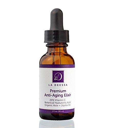 20% Витамин С + 11% Гиалуроновая кислота + Расширенный Amino Complex + органическое алоэ, растительную, 72% органических Премиум Anti-Aging Anti-Wrinkle уход за кожей, ремонт ВС повреждения, улучшает тонус кожи, увлажняет и омолаживает кожу для более моло