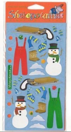 (Winter Accessories Sled Scrapbook Stickers (SPBC05))