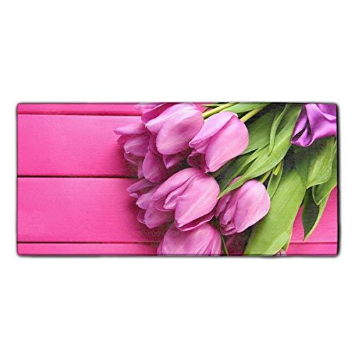 - Printed Guest Towel Tulip Spring Flower Pink Hand Towel 11.8