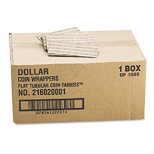 ** Flat Tubular Coin Wrappers, Dollar Coin, $25, Pop-Open Wrappers, 1000/Box