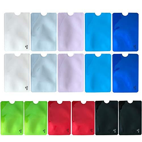 16 Fundas de bloqueo RFID para tarjetas (multicolores)