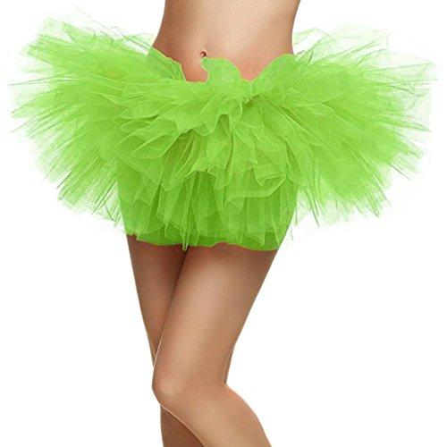 Donna Taglia Rockabilly Organza S Verde Vestito Ballerina Tutu Clubwear Pizzo Landove Sottogonne Sottoveste Ballo Skirt Principessa Layered Mini Partito Danza Gonna Tulle Abito Sexy Petticoat Ragazza HStwgxzq