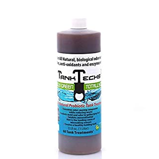 TankTechsRx - RV Holding Tank Treatment & Cleaner - 33.8 ounce = 68 treatments - All Natural Probiotics for RV, marine, camping, portable toilets