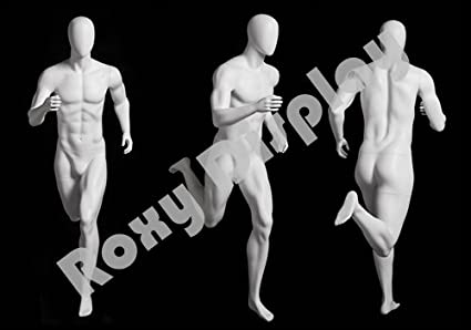 athletic runner style. ROXYDISPLAY/™ Abstract male mannequin MZ-PB5W2