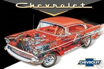 amazon 57 chevy カットアウト アートポスター印刷 アートフレーム