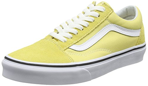 Yellow Vans White Skool Dusky Adults' Old Citron True Suede Unisex Canvas Classic Sneakers qr8q6w
