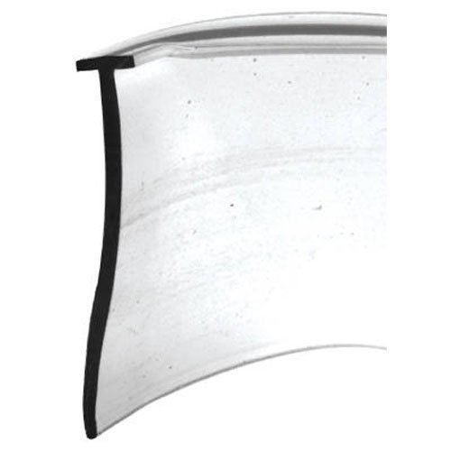 Slide-Co 194342 Shower Door Bottom Seal,T, 5/32 in. x 36 in. x 1 in, Clear Vinyl T Prime-Line Products