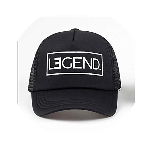 New Trucker Hat Legend Legacy Print Cap Father Son Trucker Dad Gift Daughter Kids Child Baby Mesh Baseball Caps Gift,Legend 56cm-60cm