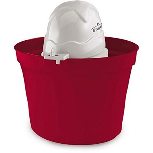 Rival Frozen Delight 4-Quart Ice Cream Maker RED