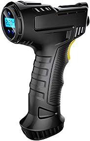Adaskala Compressor de ar de carro sem fio 120W portátil USB recarregável inflador de pneu com visor digital m