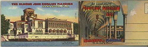 Jim Ringling Museum of Art - Sarasota Florida - Vintage 1946 Souvenir Curt Teich Detachable Postcard Booklet