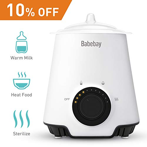 Bottle Warmer, Bottle Steam Sterilizer,3 in 1 Single Baby Bottle Warmer with Evenly Warming Breast Milk or Formula, Accurate Temperature Control,Baby Food Heater ...