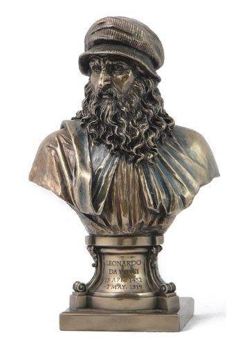 Veronese (ヴェロネーゼ) レオナルドダヴィンチ イタリア ブロンズ風 フィギュア 胸像 B07235F7C3