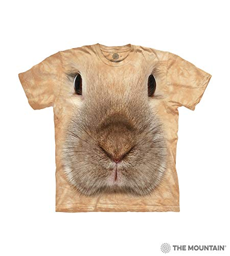 Bunny Faces - The Mountain Bunny Face Child T-Shirt, Tan, XL