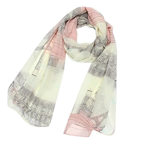 Polytree Women's Voile Eiffel Tower Scarf