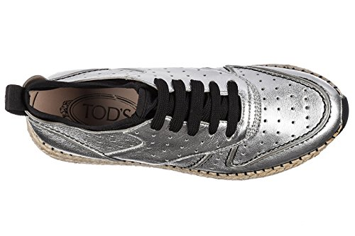 Sneakers Shoes Tod's Silver Trainers Women's Rubber 29a Leather Run f7xa6w