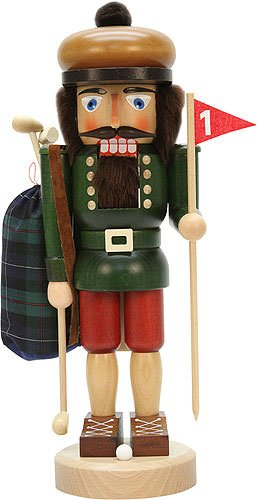 German Christmas Nutcracker Golfer - 38cm / 15 inch - Christian Ulbricht by Christian Ulbricht