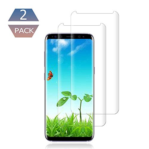 [2 Pack] Galaxy S9 Plus Screen Protector 9H Hardness/Anti-Scratch/Anti-fingerprint/3D Curved/High Definition/Ultra Clear Tempered BBInfinite Glass Screen Protector Compatible Samsung Galaxy S9 Plus ()